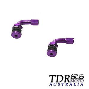 Purple 4x Car Motorcycle Caravan Tyre Valve Extension Adaptor 90 Degree Aluminiu