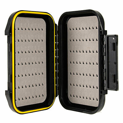Portable Waterproof Fly Fishing Lure Bait Trout Flies Hook Storage Box Case