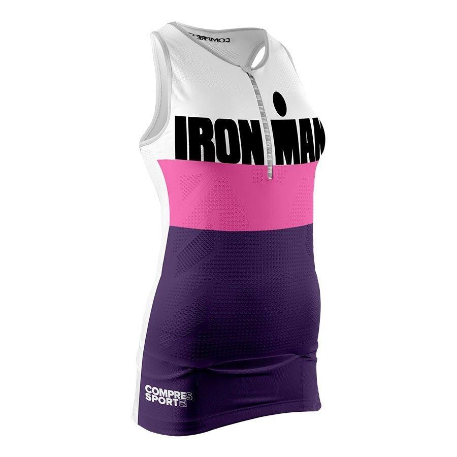 Compressport Women's ironman Tank Top Shirt, Womens, TR3 stripes purple   classic fashion