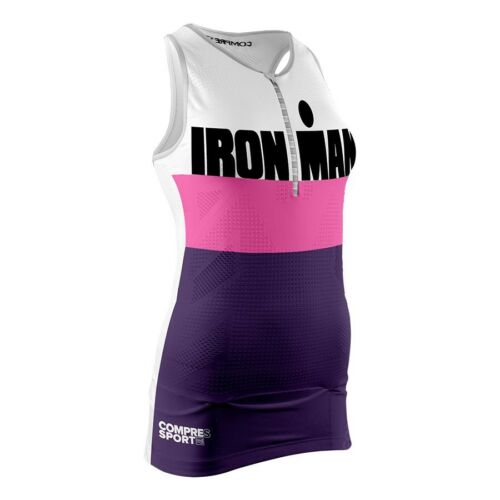 Compressport Women's ironman Tank Top Shirt, Womens, TR3 stripes purple