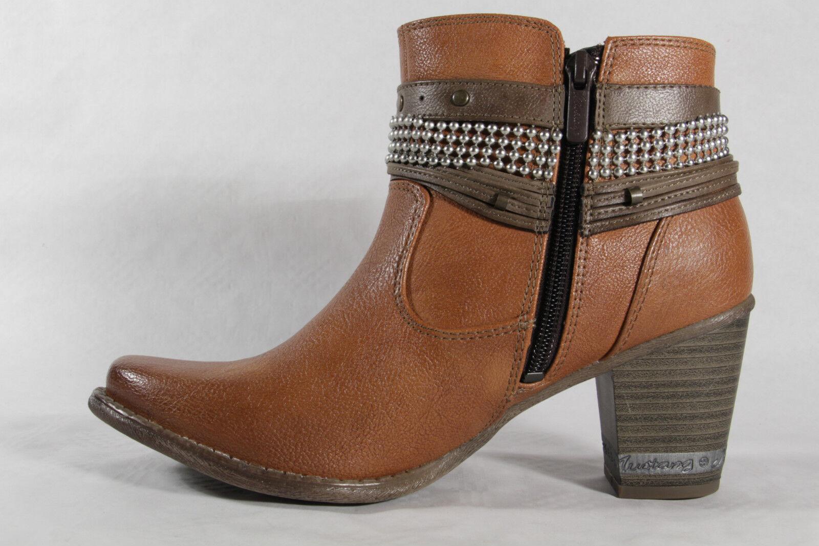 Mustang Damen Stiefel Stiefeletten Stiefel, NEU braun, leicht gefüttert  NEU Stiefel, ad2954