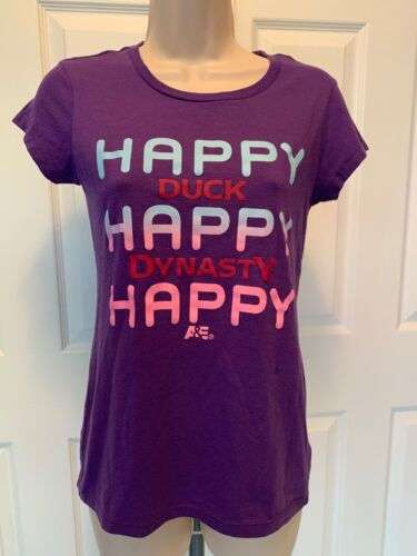 Duck Dynasty Ladies Small Purple Tshirt Happy Happ