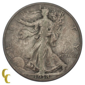 1938-D-Silver-Walking-Liberty-Half-Dollar-50C-Fine-F-Condition