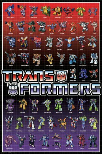 Transformers Cast Poster 24-Inch by 36-Inch