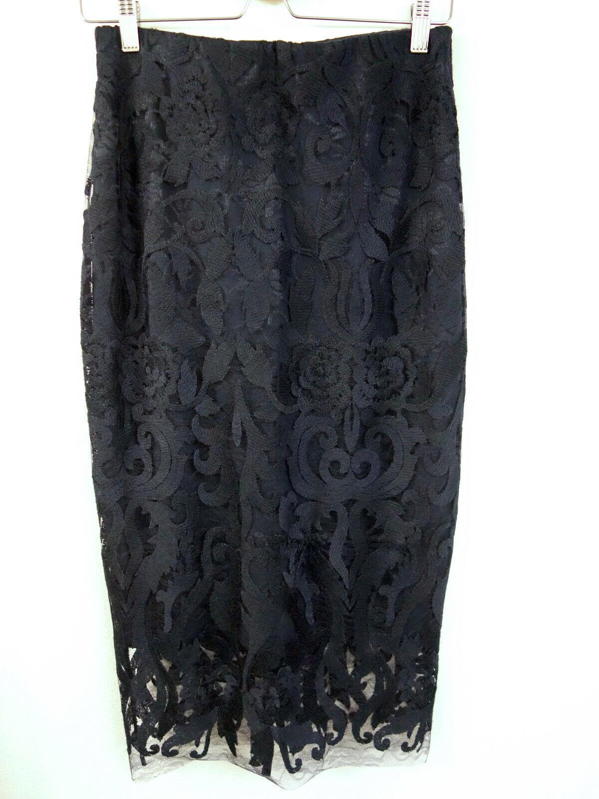 229 NEW Riani RR Designer Midi Lace Skirt Skirt Size 36 Skirt Skirt Lace Blue