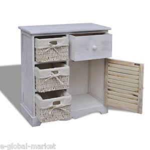 Armadio bianco bagno in legno portaoggetti armadio cucina for Armadio bagno bianco
