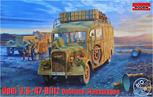 Roden 810 - Opel 3.6-47 Blitz Omnibus Staffwagen - 1 35 scale model kit 216 mm