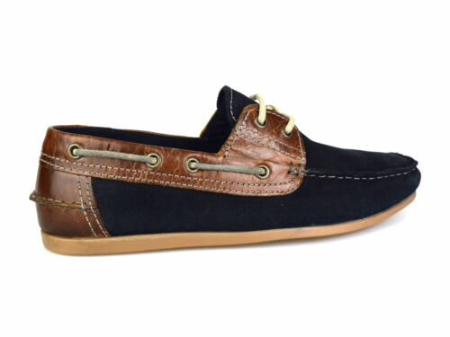 Red Tape Stratton Navy Suede Leather Mens Boat Shoes RRP £45 Free UK P/&P!
