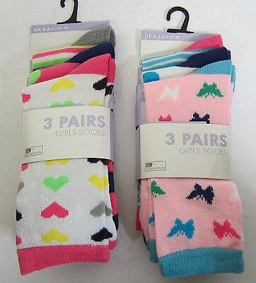 RJM Girls Multipack Design Socks with Picot Tops