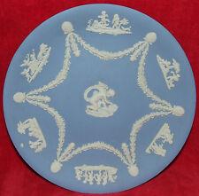"ELEGANT WEDGWOOD BLUE JASPERWARE 9"" COLLECTOR PLATE CHERUBS AT PLAY MYTHOLOGY"