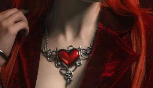Regalo del estaño pecador Gótico amor Alchemy Inglaterra-Diablo Collar Corazón Genereux