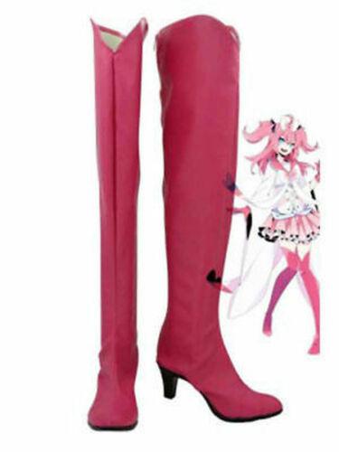 NEW Pokemon Sylveon Pink Hight Heel Cosplay Boots Custom Made