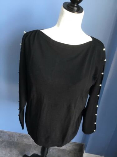 Brand New Talbots Pearl-Embellished Boatneck Sweater ship 8us ship