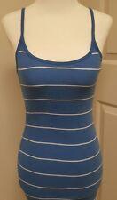Abercrombie &  Fitch Womans MEDIUM blue/ white stripe racerback tank dress