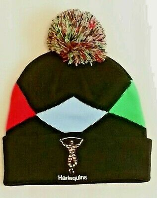 Kids' Clothing, Shoes & Accs New Clothing, Shoes & Accessories Qualified Official Harlequin Rugby Hat Kids Boy Girl Child Pom Pom Beanie 3-6 Yrs