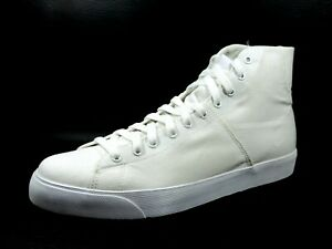 Nike-Mens-Shoes-Player-390074-100-Basketball-Canvas-Sneakers-White-Vintage-Dftv