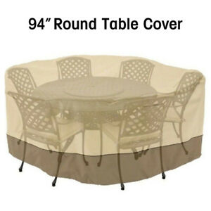 94 Round Patio Table 6 Chairs Set