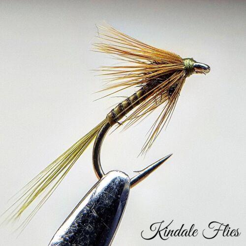 Pêche à La Mouche Mouches Truite Buzzers Olive Quill Cruncher Taille 16 Ensemble de 3
