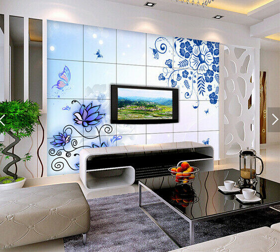 3D Painted Flowers 686 Wall Paper Wall Print Decal Deco Indoor Wall Mural CA