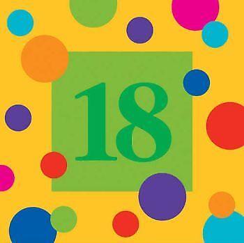 16 pack Birthday Stripes 21st Birthday 3-Ply Lunch Napkins