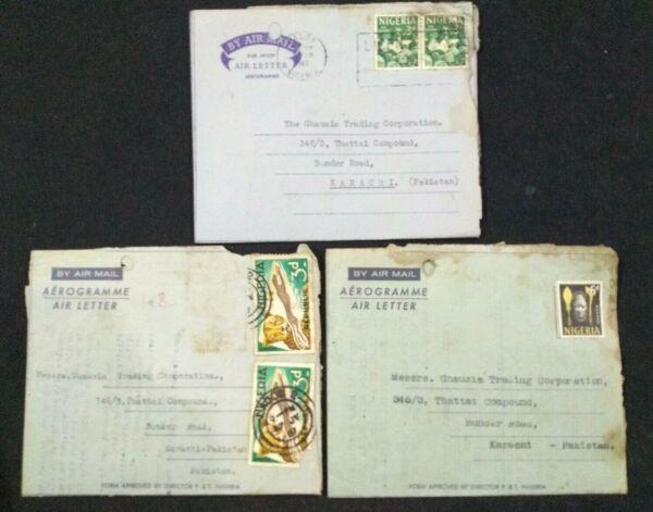FidèLe Le Nigeria Lot De 3 Différents Postaly Utilisé Affranchies Avec Timbres