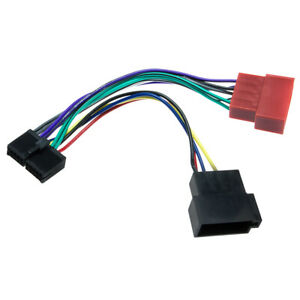 KFZ-Auto-Radio-Adapter-Kabel-16Pin-DIN-ISO-Buchse-fuer-AudioVOX-VME-9112-DVD-1627
