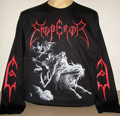 Emperor Rider Pentagram long sleeve T-Shirt Size S M L XL 2XL 3XL Black Metal