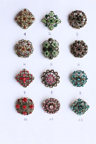 VINTAGE FLOWER BOUQUET BROOCH WEDDING PARTY PIN BROACH SPILLA VINTAGE 3CM