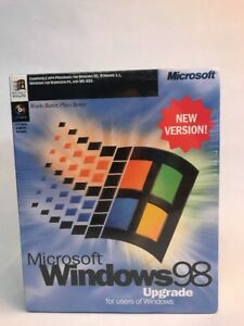 Details about New + Sealed Microsoft Windows 98 Upgrade CD-ROM Vintage