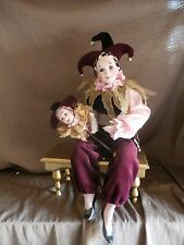 Hamilton Collection Doll THE ENTERTAINER Jester Porcelain Bisque Kay McKee