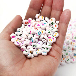 1000x-Acrylic-Alphabet-Letter-Beads-DIY-Jewelry-Making-Craft-Loose-Spacer-7x4mmM