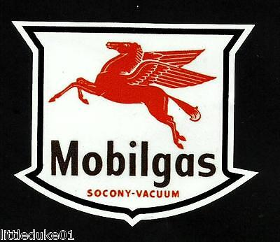 "MOBIL SOCONY /""LOGO/"" PEGASUS SERVICE STATION PROMO VINYL DECAL STICKER Vespa !!"