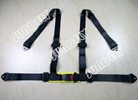 BLACK 3 4 POINT RACING SEAT BELT HARNESS FOR CAR/TRACK DAY/OFF ROAD BUGGY