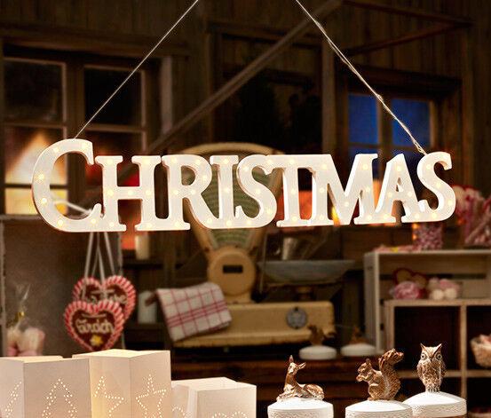 TCM Tchibo LED Aufhänger CHRISTMAS mit 48 LEDs Weihnachtsdeko