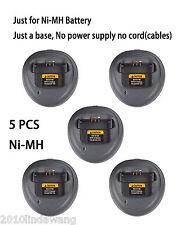 5x Rapid Ni-MH Charger Base For Motorola CP040 PR400 CP200D EP450 Portable Radio