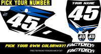 Yamaha Yzf450 10-13 Pre Printed Number Plate Backgrounds Fast Guy W/airbox