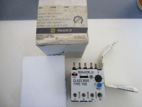 Square D 9065 TD 8 Thermischer Motorschutzrelais OVP Neuwertig ! 8A-11,5A
