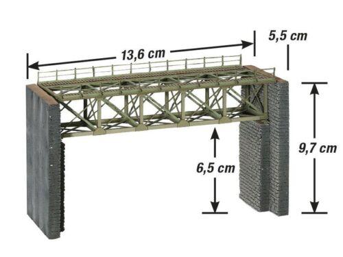 Stahlbrücke für Schmalspurbahnen   Neuware Noch H0 67038
