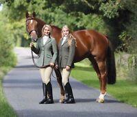 New Shires Ladies Huntingdon Tweed Riding Jacket Showing
