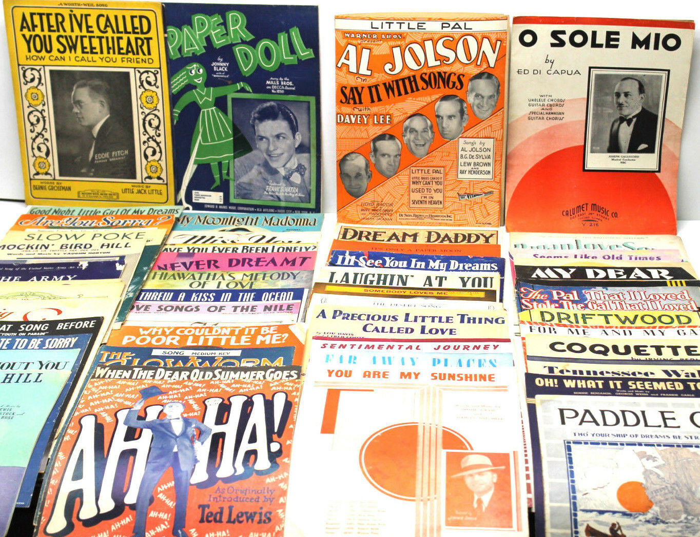 Vintage 1920s - 1940s Sheet Music Lot 60 Pc Tin Pan Alley NY Show Tunes Collage