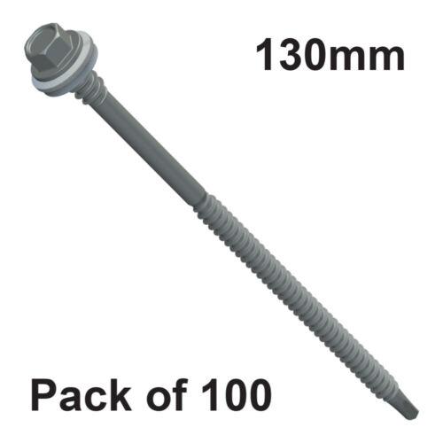 100 X 130mm Luz sección Auto Perforación Hilo Para Techos Panel Tornillo Sujetador De Alta