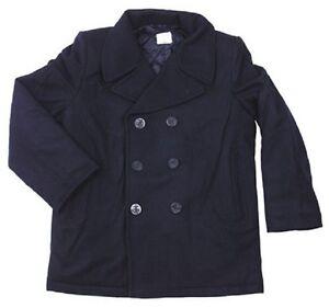 Blue Us Mantel Vintage Kurzmantel Xs marino Pea Navy Blau Coat Esercito Jacke rr6zx