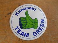 1970's Vintage Kawasaki 4 Decal Thumb Up Team Green