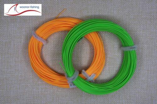 3X Fliegenschnur, Fly-Line WF-5F bis WF-9F Orange oder Grün !! Freie Auswahl !!