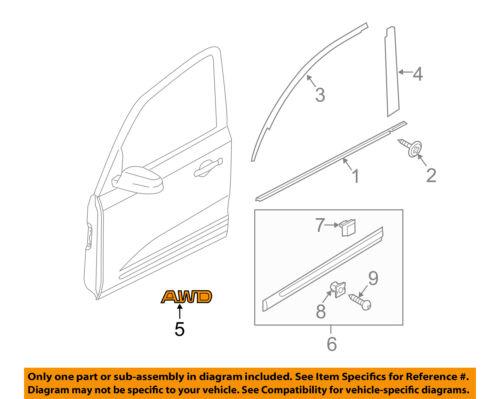 KIA OEM 11-15 Sorento Front Door-Emblem Badge Nameplate Left 863411U000