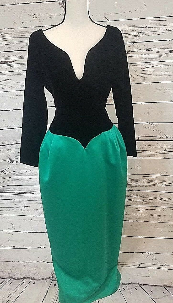 Vintage Victor Costa Full Length Gown, Size 12