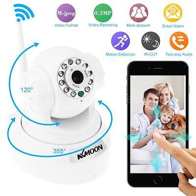 Caméra IP Vision nocturne Surveillance WIFI Wlan Pan Tilt White Intérieur K6G8