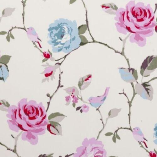 Clarke and Clarke Studio G Agatha in Aqua Curtain Upholstery Craft Fabric