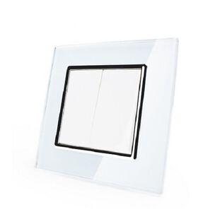 wechselschalterlichtschalter-Commutateur-a-bascule-verre-blanc-vl-c7-k2s-11-avec