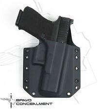 "Bravo Concealment Black BCA Glock 17, 22, 31 Kydex Gun Holster w/1.5"" Belt Loops"